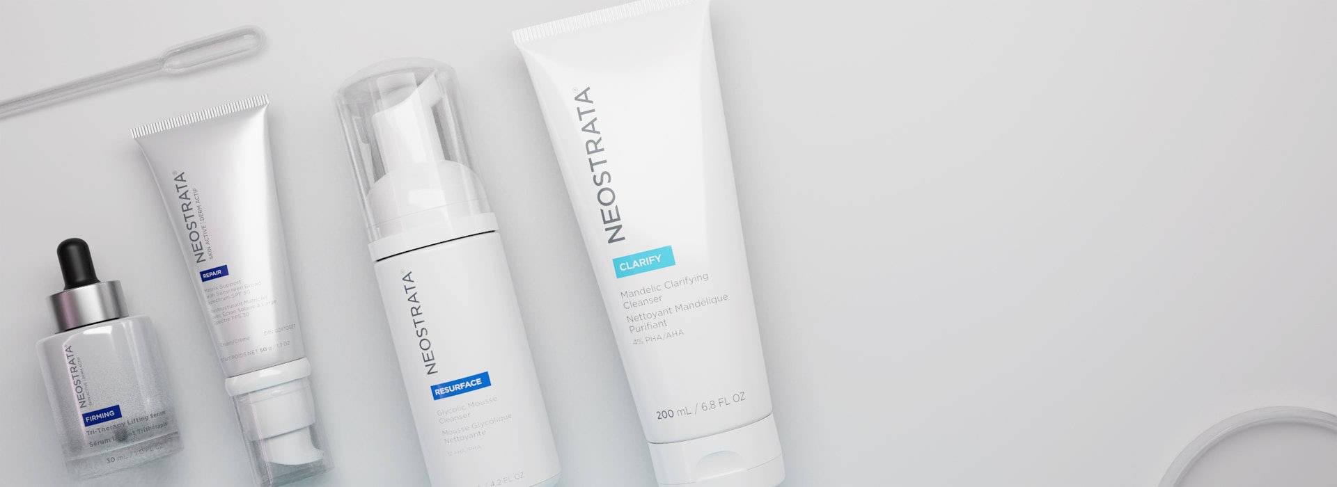 Skin Care Product Types Banner