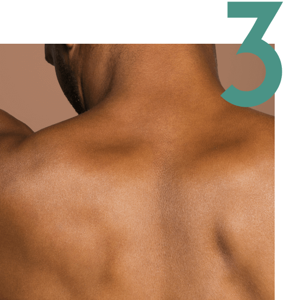 A man's upper back